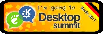 """""""I'm going to Desktop Summit 2011 in Berlin"""" banner"""