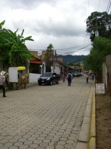 One of the main streets in Valle de Ángeles, a village near Tegucigalpa, the capital.